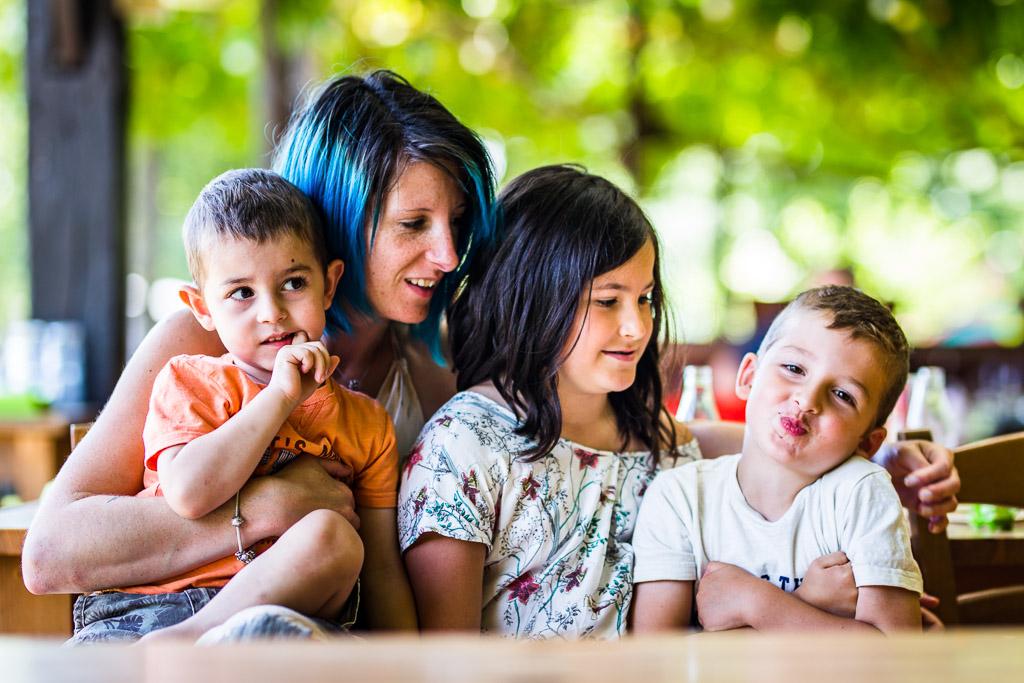 la famille du reportage photo de vacances en Bretagne