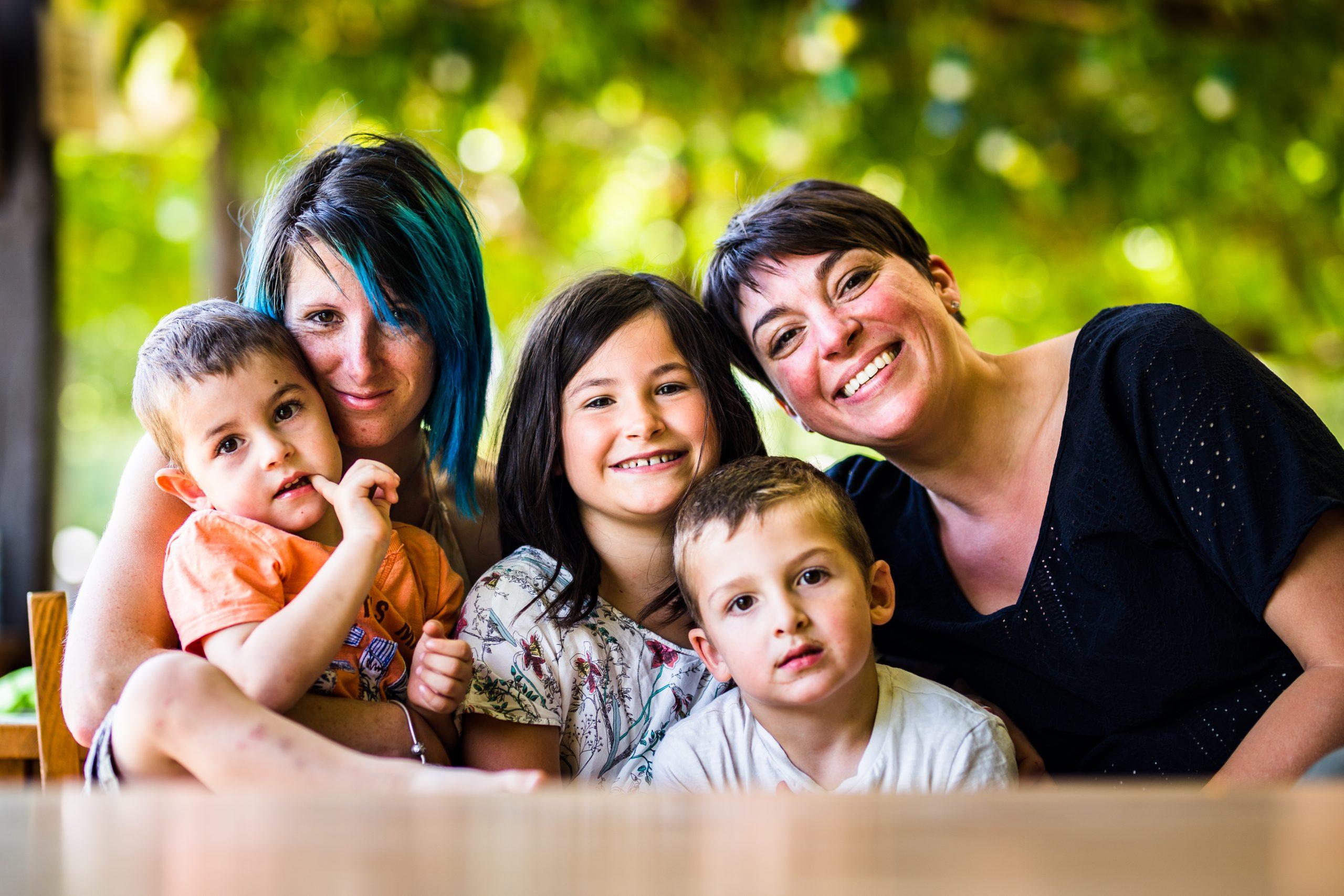 la photographe Nicole Gevrey et la famille du reportage de vacances