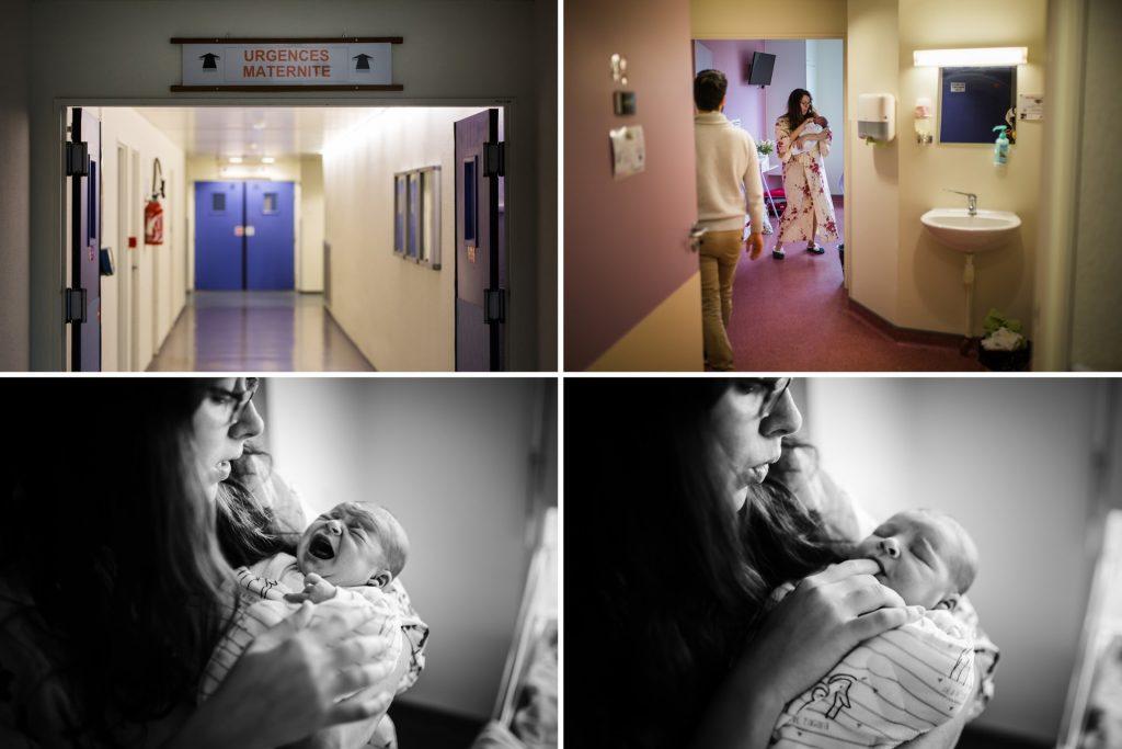 reportage photo de naissance, à la maternité