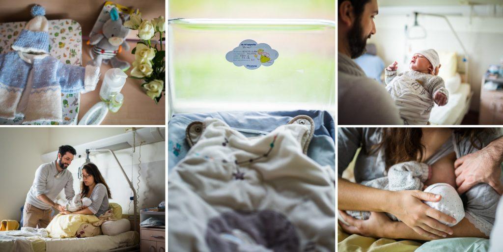 reportage photo à la maternité, détails