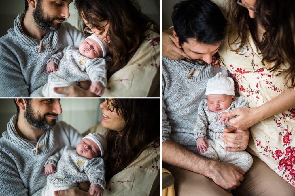 portraits de famille à la maternité