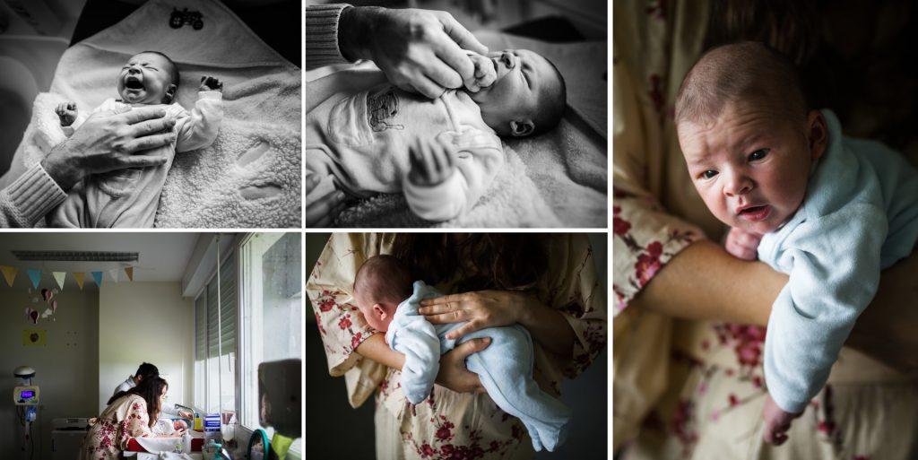 reportage à la maternité pour une naissance, par Nicole Gevrey