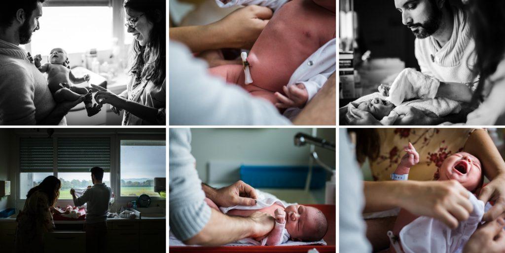après le 1er bain à la maternité, reportage photo de naissance