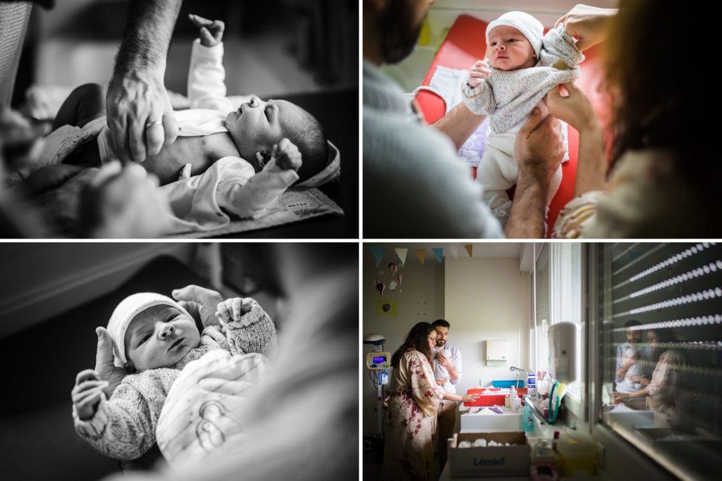 à la nursery de la maternité, reportage photo