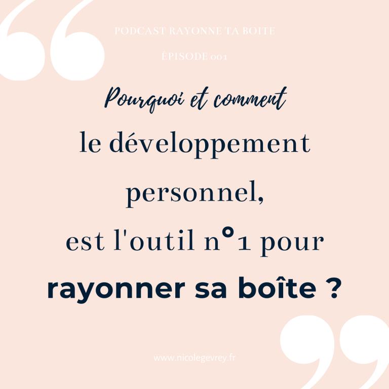 développement personnel et entreprenariat